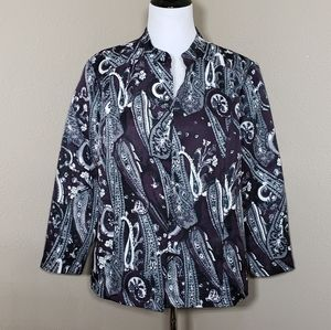 Chicos Paisley Open Front Jacket 3 / XL / 16